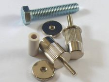 #3160 E-Sert™, Gloss Nickel conversion bushings, For EPIPHONE, TOKAI, IBANEZ and other imports