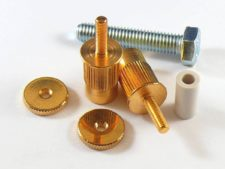 #3160-2 E-Sert™ Gloss Gold conversion bushings, For EPIPHONE, TOKAI, IBANEZ and other imports