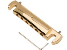 #3322 Tone-Bar™ Compensated Wrap Tailpiece/Bridge Gloss Gold – Brass tone bars