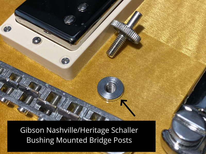 Gibson Les Paul Bridge Studs Nashville Locking Gold HP Hex Guitar Parts Anchor