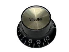 Vintage Style Foil Top Knob, Black Volume w/Gold Foil