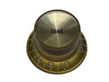 Vintage Style Foil Top Knob, Gold Tone w/Gold Foil