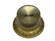 Vintage Style Foil Top Knob, Gold Volume w/Gold Foil