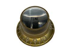 Vintage Style Foil Top Knob, Gold Tone w/Silver Foil