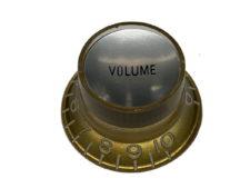 Vintage Style Foil Top Knob, Gold Volume w/Silver Foil