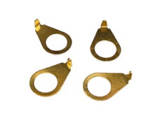 Pointer Washers, Gold, Set of 4